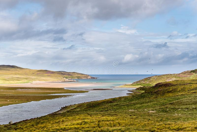 Vista escénica en el norte de Escocia foto de archivo libre de regalías