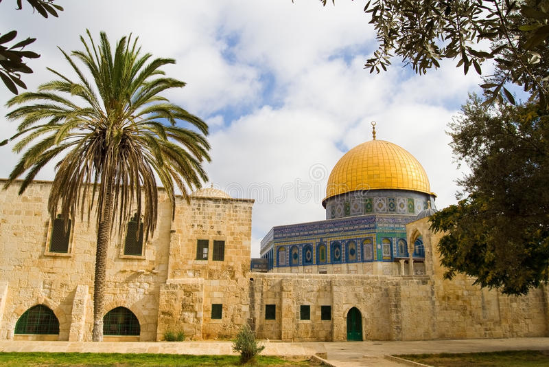 Vista esotica di Gerusalemme immagini stock libere da diritti