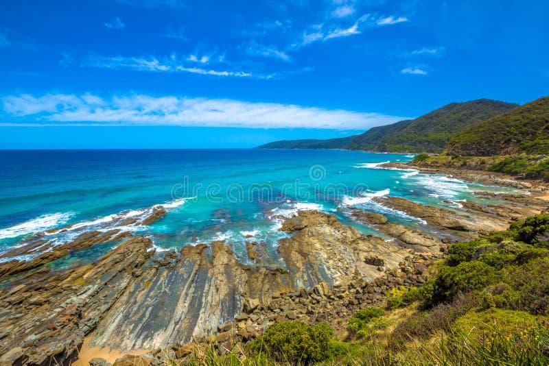 Vista espectacular del gran camino del océano fotografía de archivo