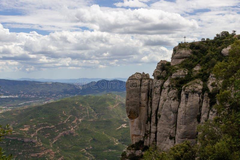 Vista espetacular de Monserrate fotografia de stock royalty free