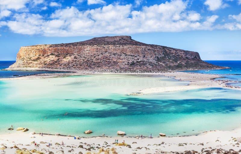 Vista esplêndida da baía de Balos na ilha da Creta, Grécia foto de stock royalty free