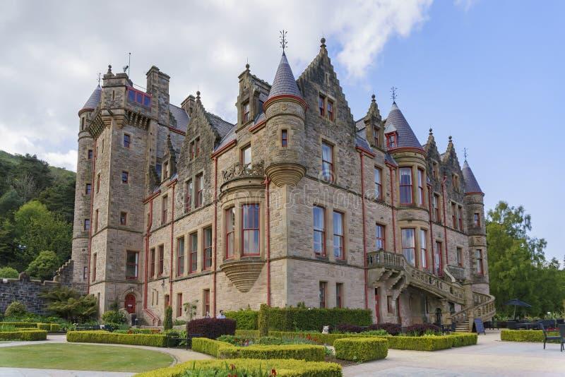 Vista esteriore del castello di Belfast fotografia stock