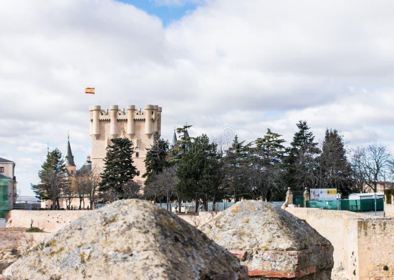 Vista esteriore del de Segovia di alcazar della fortezza immagini stock