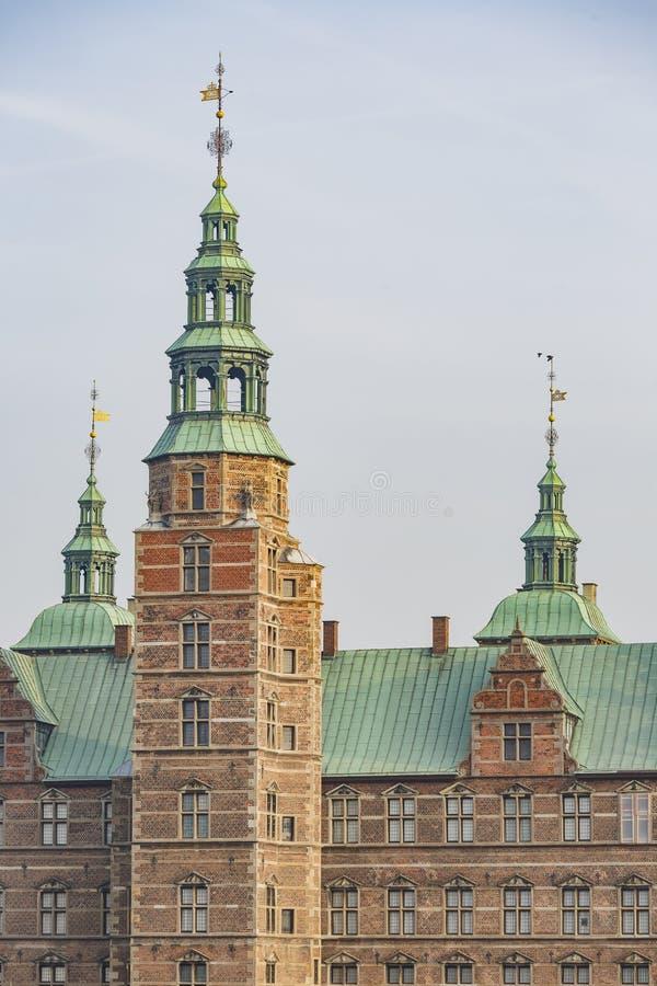 Vista esteriore della scanalatura famosa di Rosenborg fotografia stock