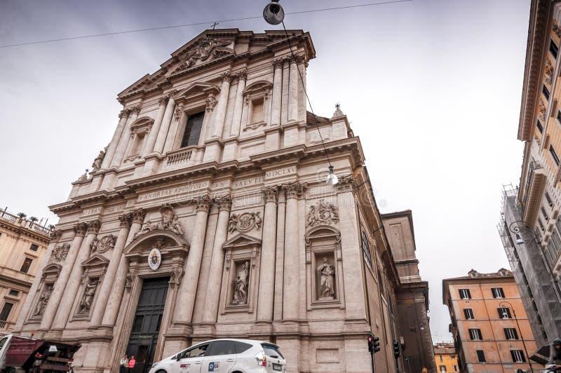 """Vista esteriore di Chiesa Sant """"Andrea della Valle a Roma, Italia immagini stock libere da diritti"""