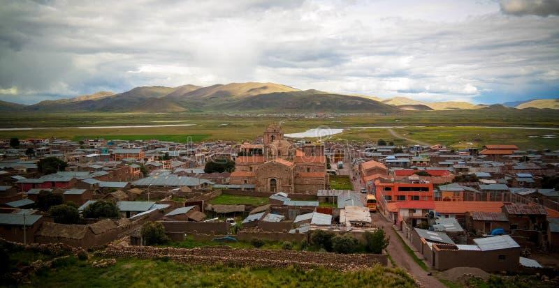 Vista esteriore a Iglesia de Santa Isabel de Pucara, Puno, Per? immagini stock libere da diritti