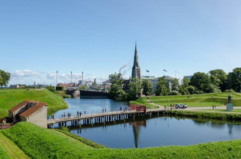 Vista esterna della fortezza danese Kastellet fotografie stock