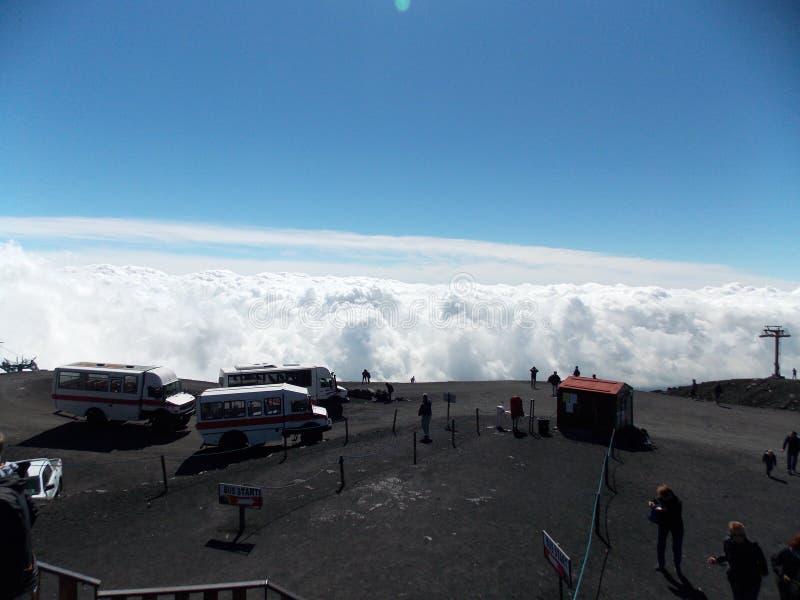 Vista excitante, Etna fotografia de stock