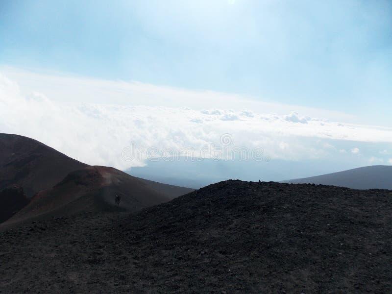 Vista excitante, Etna imagem de stock royalty free