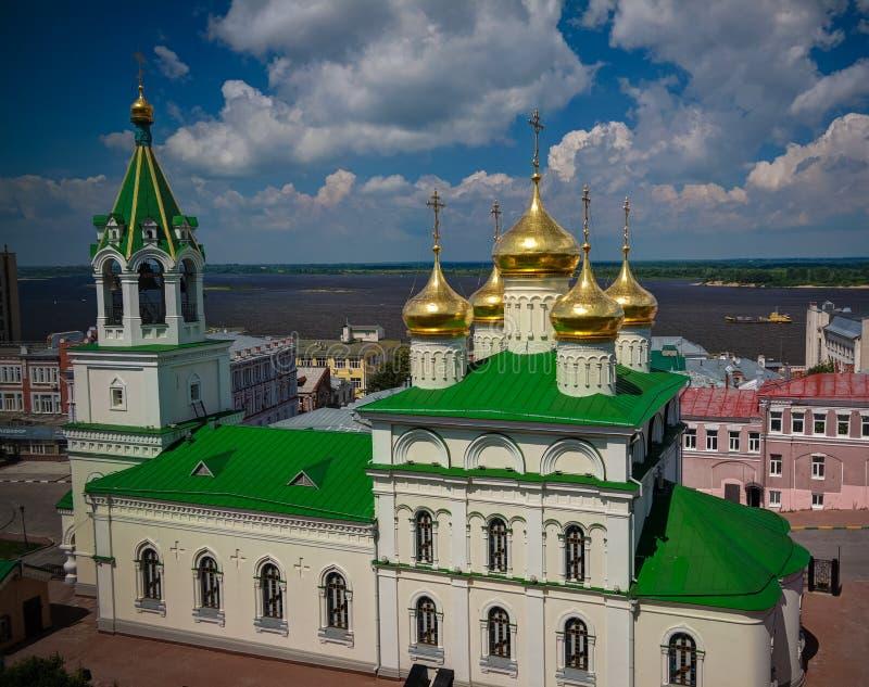 Vista exterior à igreja de St John o batista, Nizhny Novgorod, Rússia fotos de stock