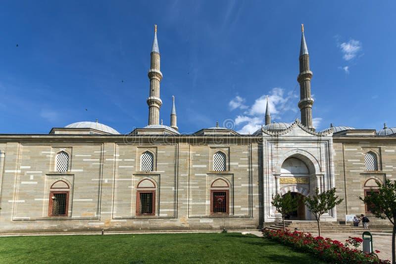 Vista exterior da mesquita de Selimiye construída entre 1569 e 1575 na cidade de Edirne, Thrace do leste, Turke fotos de stock royalty free