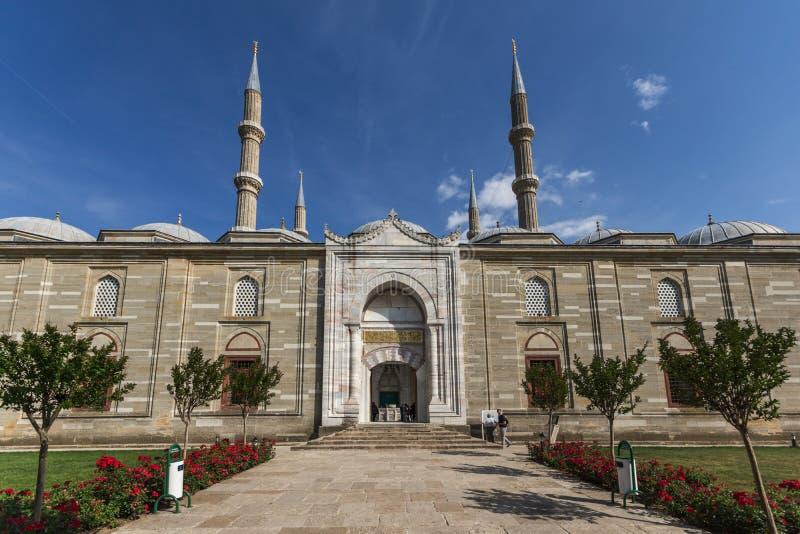 Vista exterior da mesquita de Selimiye construída entre 1569 e 1575 na cidade de Edirne, Thrace do leste, Turke imagens de stock