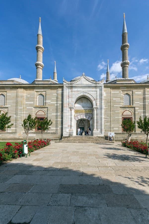 Vista exterior da mesquita de Selimiye construída entre 1569 e 1575 na cidade de Edirne, Thrace do leste, Turke imagem de stock