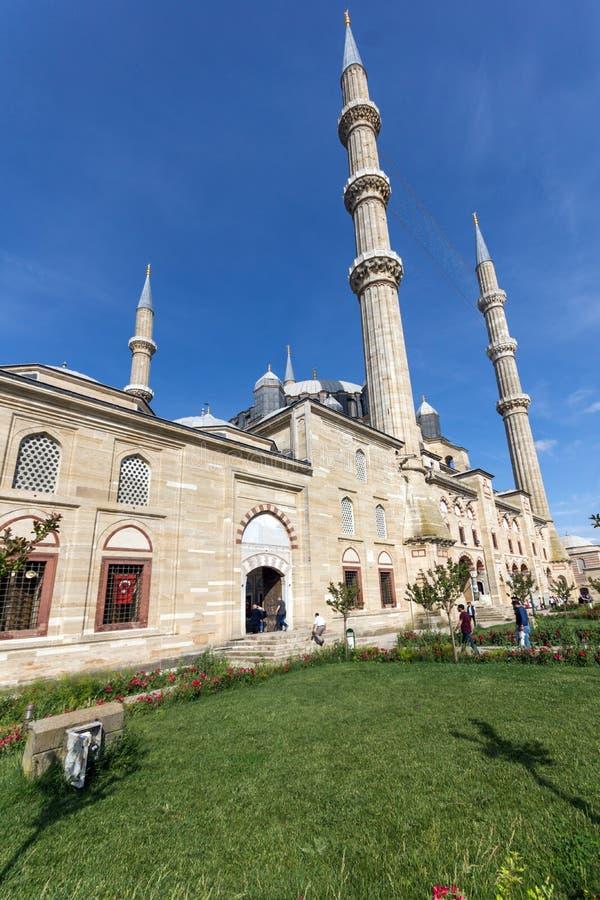 Vista exterior da mesquita de Selimiye construída entre 1569 e 1575 na cidade de Edirne, Thrace do leste, Turke fotografia de stock royalty free