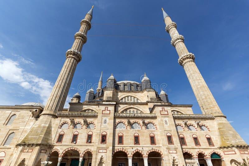 Vista exterior da mesquita de Selimiye construída entre 1569 e 1575 na cidade de Edirne, Thrace do leste, Turke imagens de stock royalty free