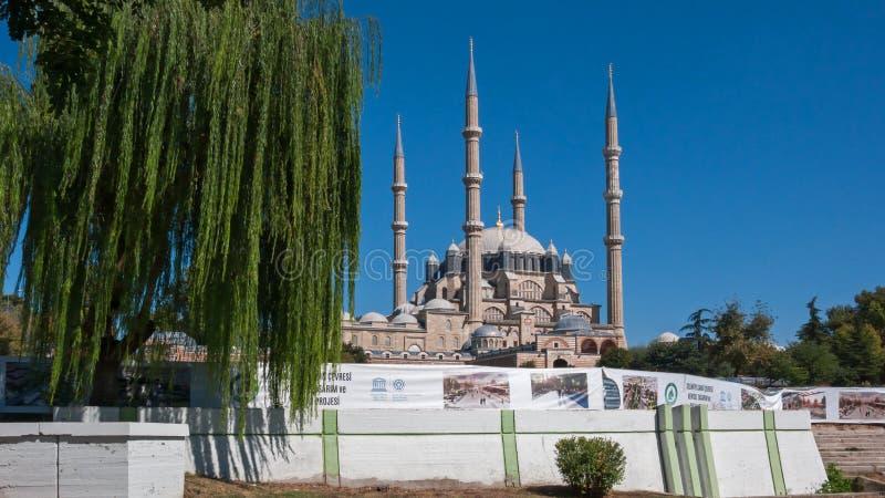 Vista exterior da mesquita de Selimiye construída entre 1569 e 1575 na cidade de Edirne, Thrace do leste, Turquia fotos de stock