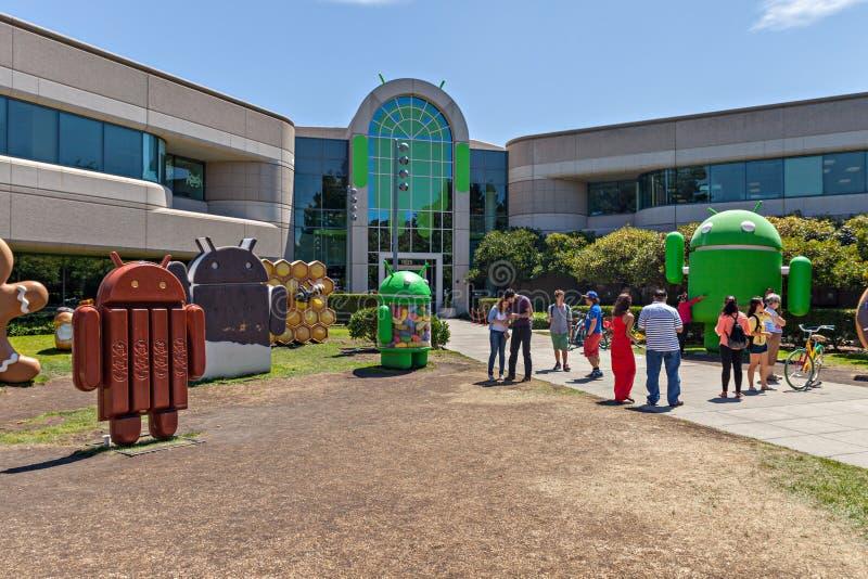 Vista exterior de la oficina de Google imágenes de archivo libres de regalías