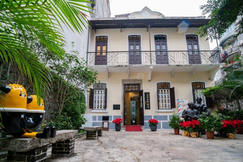Vista exterior de la residencia anterior del tintín famoso del general YE foto de archivo libre de regalías