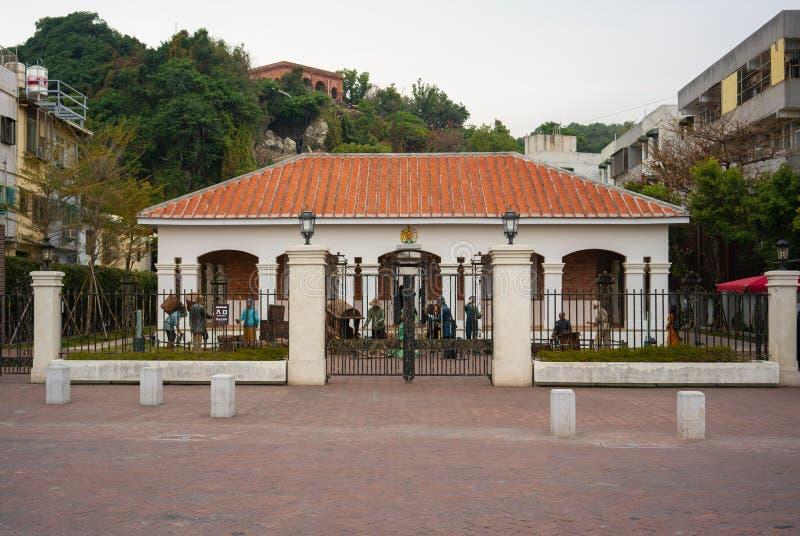 Vista exterior de la residencia británica anterior del consulado en Takou imagen de archivo
