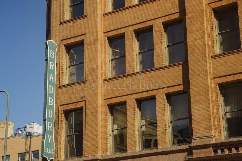 Vista exterior del edificio famoso e histórico de bradbury imágenes de archivo libres de regalías