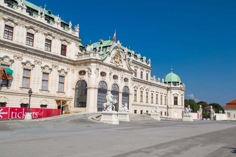 Vista exterior del palacio del belvedere en Vienne imagen de archivo