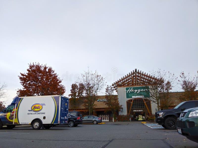 Vista exterior del supermercado Haggen Northwest Fresh en Woodinville, WA fotografía de archivo
