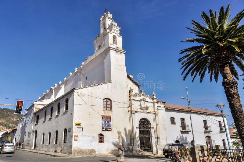 Vista exterior do monastério de Felipe Neri no sucre, Bolívia foto de stock