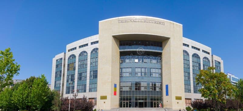 Vista exterior do tribunal de Bucareste imagem de stock