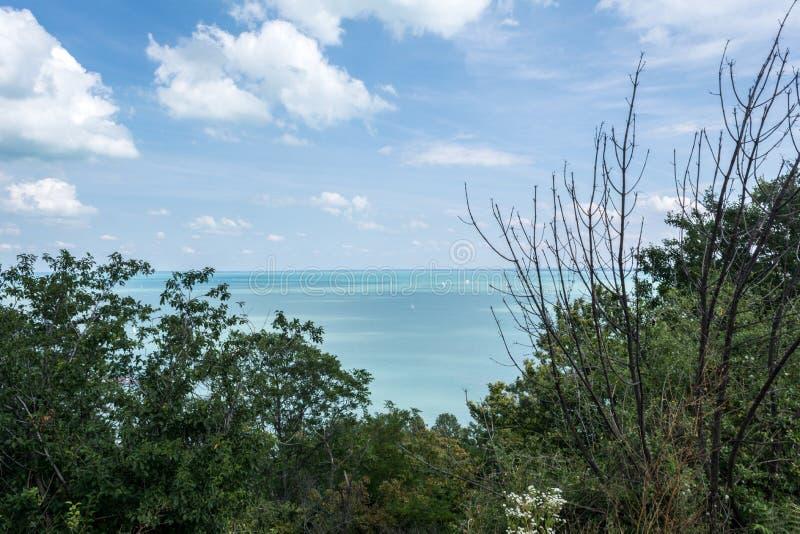 Vista fantástica del lago Balatón, Hungría foto de archivo libre de regalías