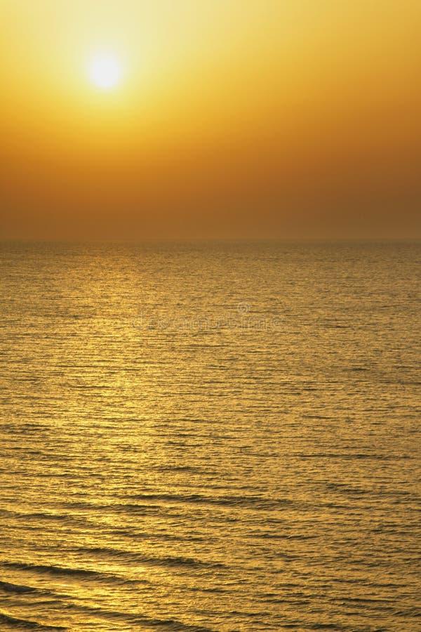 Vista fantástica do mar foto de stock