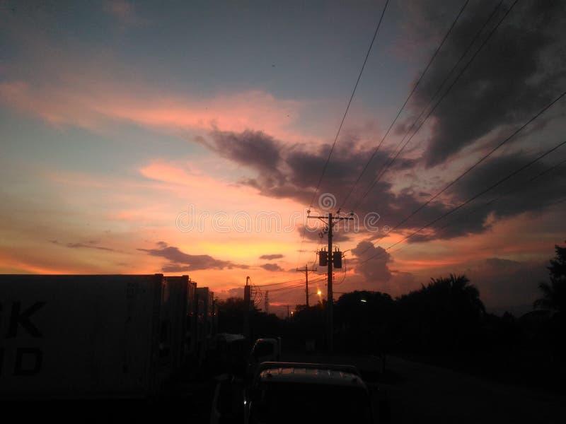 Vista Filippine di tramonto fotografie stock libere da diritti