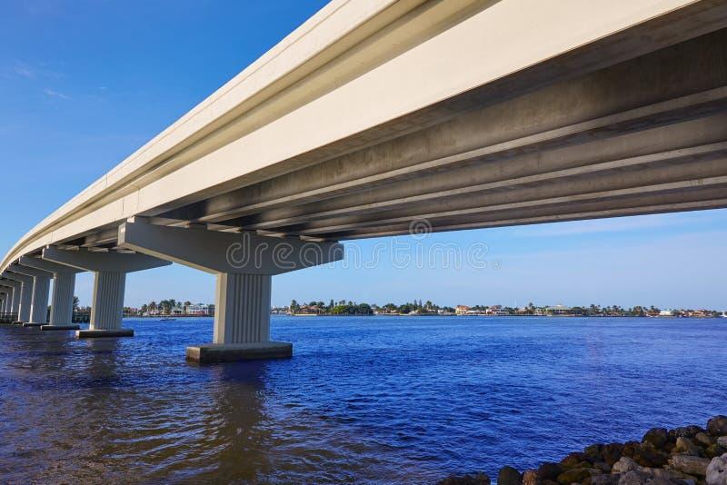 Vista Florida del ponte di Napoli Florida Marco Island immagine stock libera da diritti
