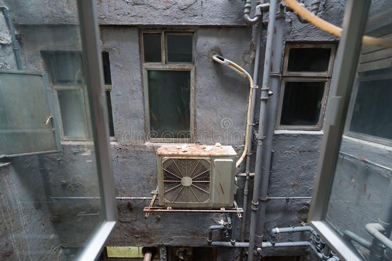 Vista fora da janela em Hong Kong fotografia de stock royalty free