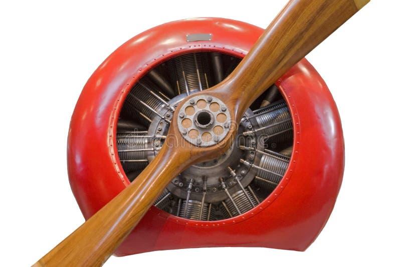 Vista frontal del motor de avión radial imagenes de archivo