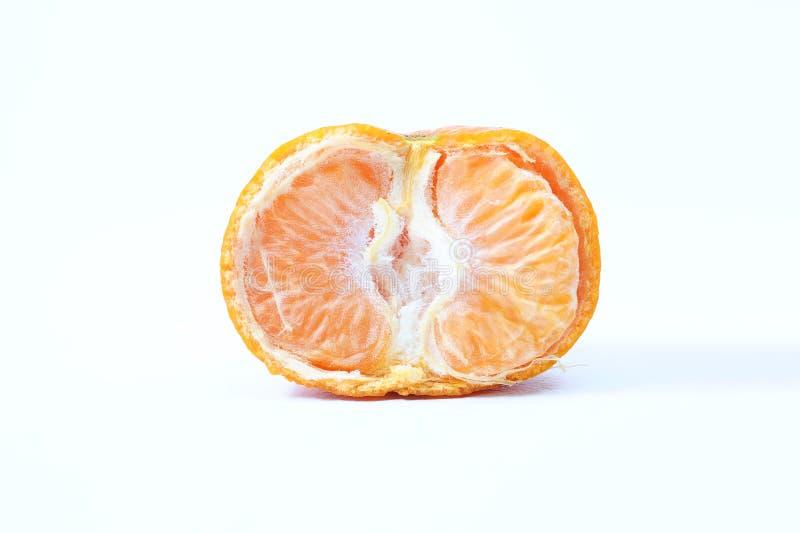 Vista frontale arancio del mezzo taglio fresco immagine stock libera da diritti