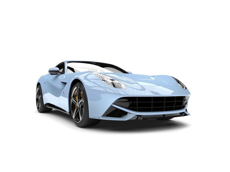 Vista frontale automobilistica di concetto moderno blu-chiaro fresco illustrazione di stock