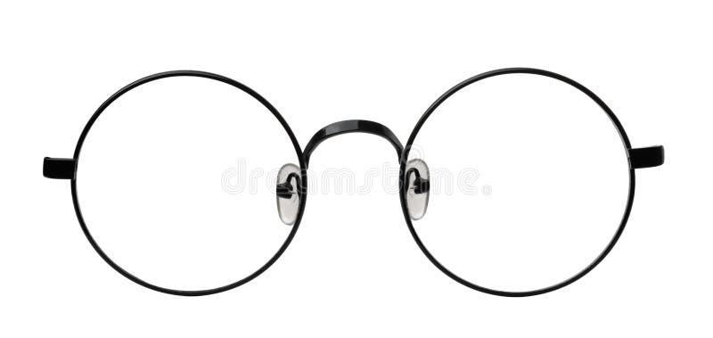 Vista frontale degli occhiali rotondi immagine stock