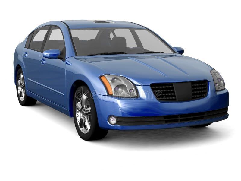 Vista frontale dell'automobile blu del codice categoria di premio illustrazione vettoriale