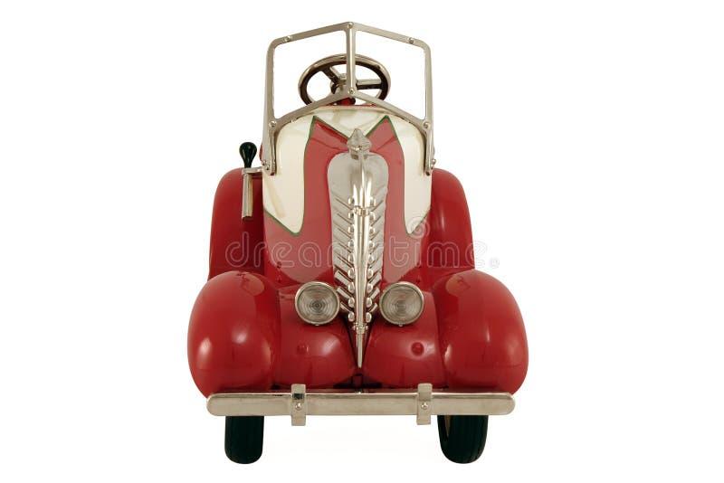 Vista frontale dell'automobile rossa operata immagine stock