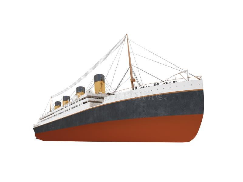 Vista frontale della grande fodera della nave royalty illustrazione gratis