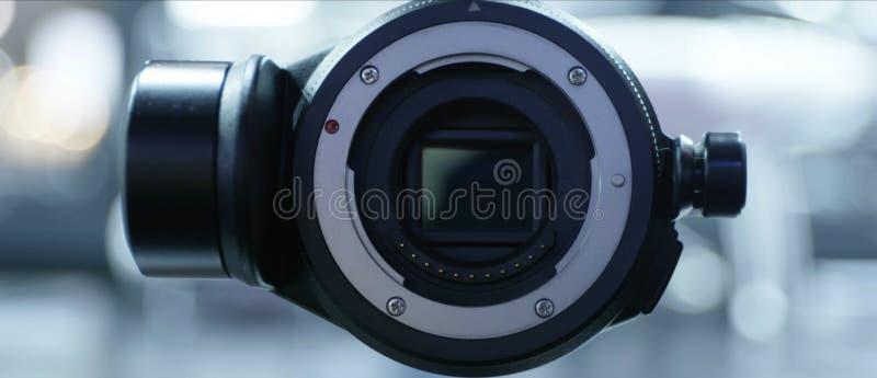 Vista frontale della macchina fotografica degli aerei del fuco immagini stock
