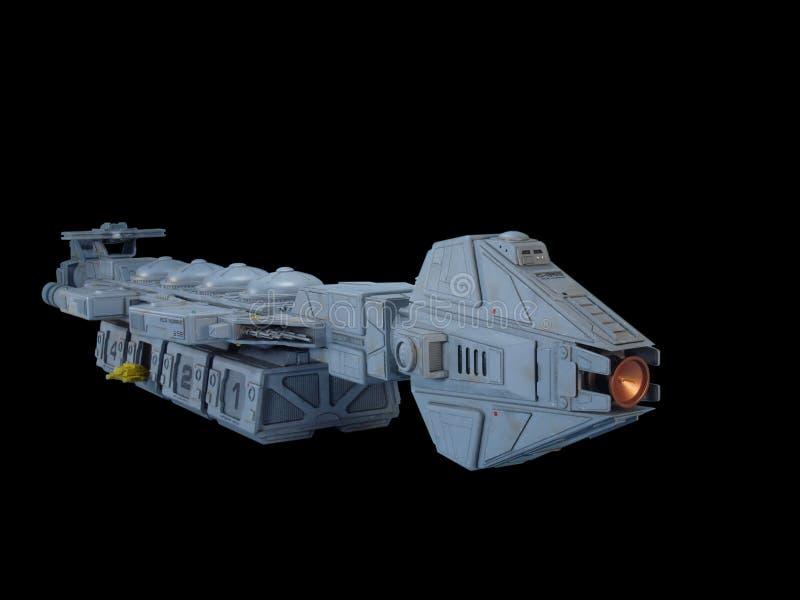 Vista frontale della nave spaziale del carico immagine stock