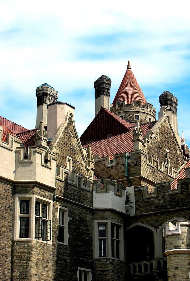 Vista frontale della torretta orientale fotografie stock libere da diritti