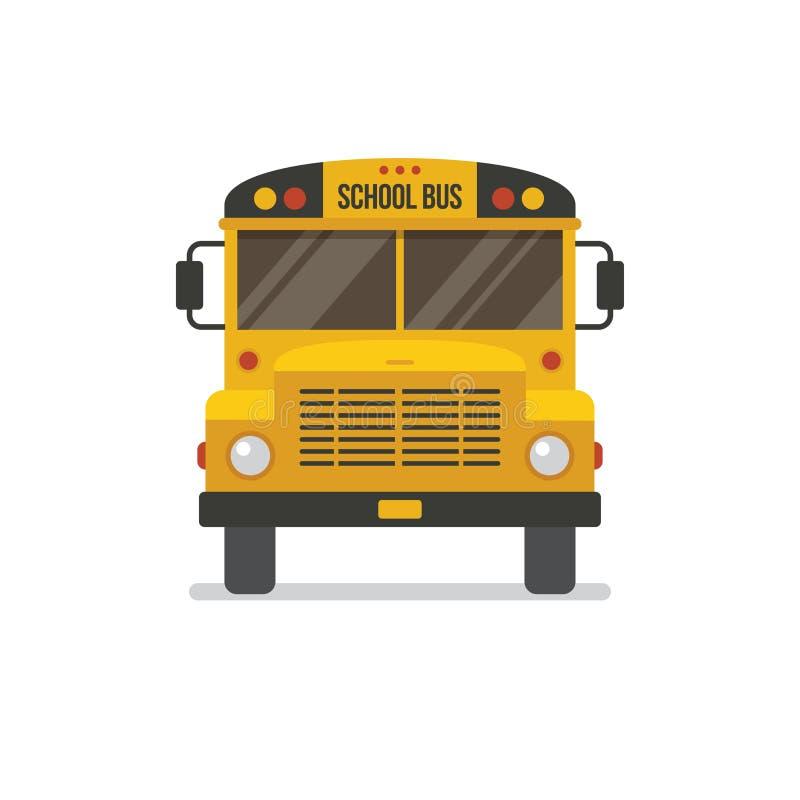 Vista frontale dello scuolabus illustrazione di stock
