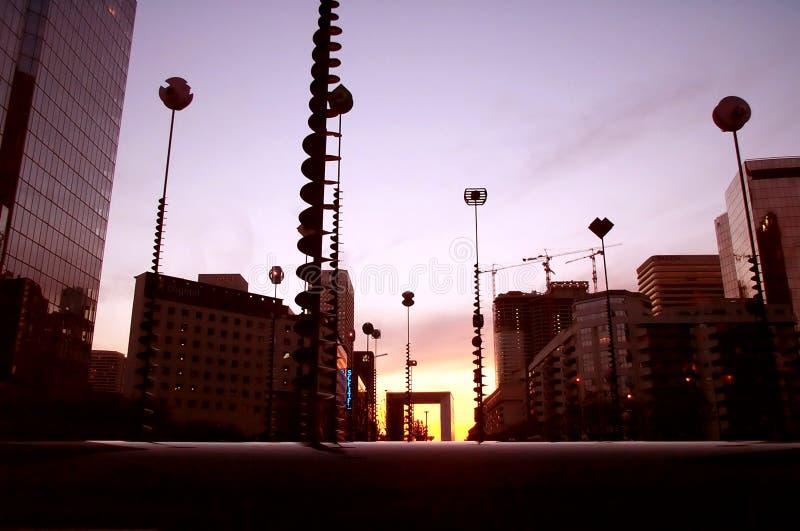 Vista Futurista Do Arco Da Defesa Fotos de Stock Royalty Free