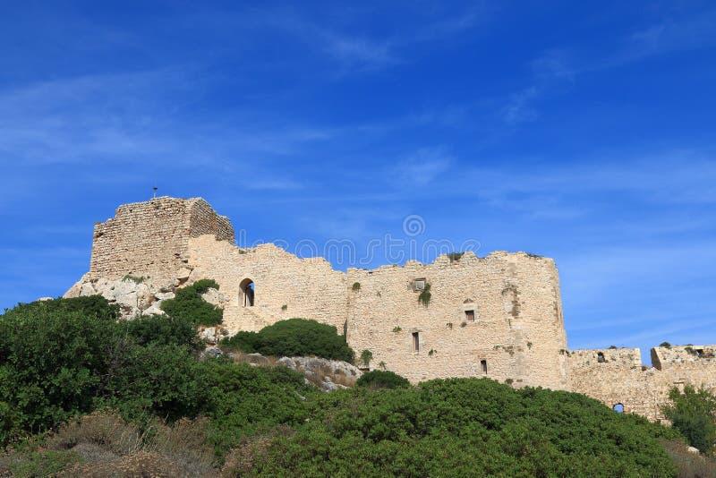 Vista general del castillo de Kritinia foto de archivo