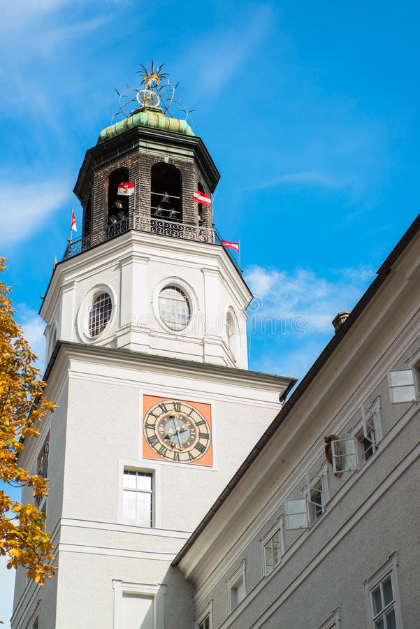 Vista general del centro histórico de Salzburg imagen de archivo libre de regalías