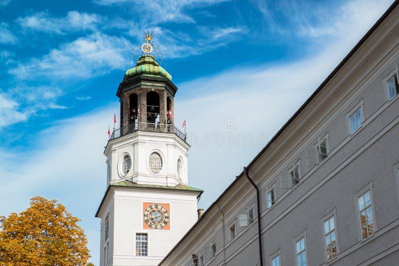 Vista general del centro histórico de Salzburg fotos de archivo libres de regalías