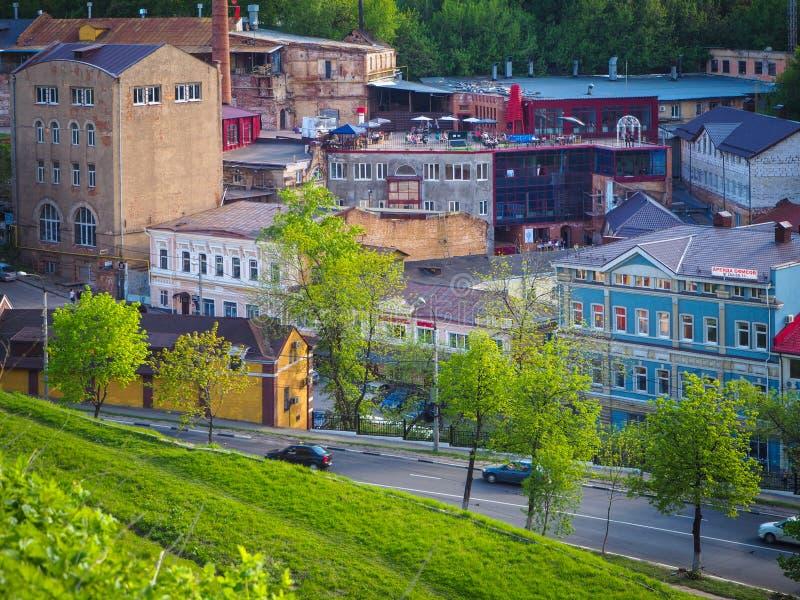 Vista general del distrito viejo fotos de archivo libres de regalías