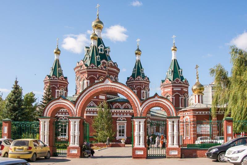 Vista generale della cattedrale di Kazan a Volgograd fotografie stock